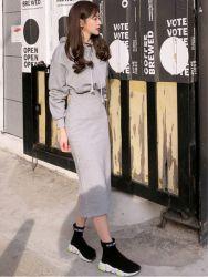 Новый стиль моды женщина платья одежда спорта женщин повседневная одежда
