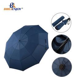مظلة تلقائية الطي مظلة مزدوجة مظلة آلية الفتح الأوتوماتيكي مظلة جولف سفريات مع 10 ضباب
