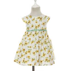Un simple línea de Verano estilo Girasol estampados florales vestidos casuales