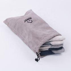 Couleur personnalisée de polyester velours Banque d'alimentation de la promotion d'emballage de téléphone mobile coulisse Pochette Sac avec logo imprimé