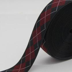 Новая конструкция ромб шаблон из жаккардовой ткани эластичные лямке, пользовательские полиэстер лента ремня