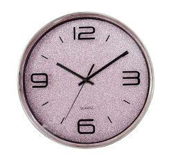 """La ronda de 16"""" de color rosa brillante plástico europeo 3 mano Quartz Reloj de pared"""