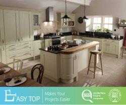 Colores cálidos de madera de la casa fresca kitchen cabinet DIY de moderno diseño de muebles de un paquete plano