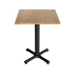 Toute nouvelle table à manger de style moderne de gros de meubles de jardin en métal Pied de table table de restaurant