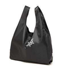 Logo personnalisé de l'impression recyclables Polyester étanche de pliage joint Velcro Portable sac shopping veste de poignée