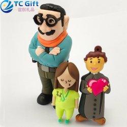 공장 도매 주문 만화 인형 장난감 고무 열쇠 고리 아이 소녀 소년 기념품 선물 훈장 3D PVC Key Fob Company 선전용 품목은 Keychain를 개인화했다