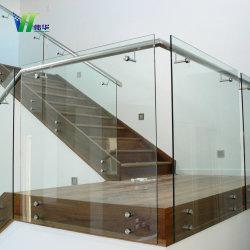 Salle de bains moderne personnalisé coin porte de douche en verre incurvé trempé