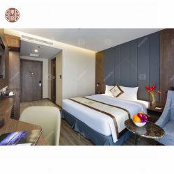 Mobilia cinque stelle di lusso elegante personalizzata dell'ingresso dell'hotel della qualità superiore, serie laminata della mobilia della camera da letto