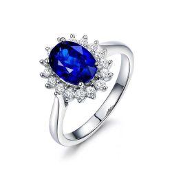 여자 부속품은 숙녀 S925 소녀를 위한 925의 짜개진 조각 반지를 도금하는 순수한 은 반지 로듐을 도매한다