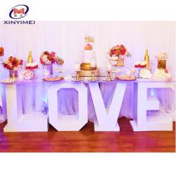 Partie LED utilisée Lettre d'amour Le Tableau de base pour l'étape de mariage decoration
