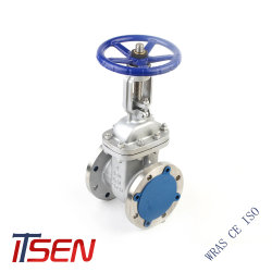 Aço inoxidável CF8/CF8m/CF3/CF3m/SUS304/SUS304L/SUS316/SUS36m válvula gaveta de flange para fins industriais
