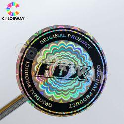 Защиты от несанкционированного вскрытия легко разрушены безопасности Голографическая наклейка с логотипом