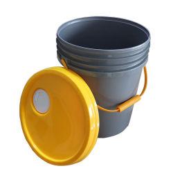 印刷18Lのプラスチックバケツハンドルが付いているふたが付いている4.5ガロンのペンキのバケツ