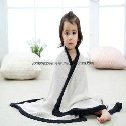 100% coperta del bambino lavorata a maglia cotone