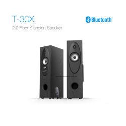 T30X Sistema de Home Theater 2.0 de chão de Torre de TV com altifalante surround Bluetooth USB/FM/Remote/