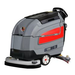 Nuevo diseño de la mano empujando a S70 Supermercado Auto Limpieza mosaico de la batería Scrubber Limpiasuelos máquina