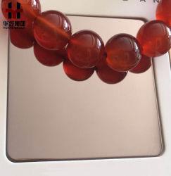 8k miroir décoratif en acier inoxydable de feuilles de couleur et les plaques
