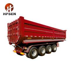 3 as 4 Semi Aanhangwagen van de Vrachtwagen van de Kipper van de Doos van de Stortplaats van de Vorm van U van de As 80ton de Achter