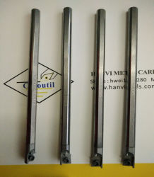 ساق كربيد قضيب ممل للأجزاء C06j-Sclccr06 من الكربيد للدوران الداخلي الأدوات