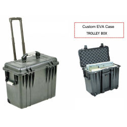 Toolbox die van het karretje Taai Draagbaar Verzegeld Plastic Geval Rolling