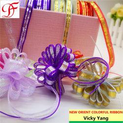 Personalizada de colores iridiscentes teñido de tirar de cinta de opciones para la decoración y los arcos