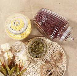 Универсальное питание кухня стеклянные баночки для хранения контейнеров с крышками