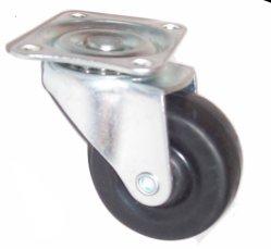 Rueda giratoria de 50 mm con freno lateral de caucho
