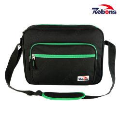 Ordinateur portable sac à bandoulière en polyester pour les hommes avec sangle réglable
