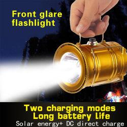 Camping de l'énergie automatique intelligente rechargeable Lampe de table solaire extérieur