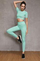 Сшитые спортзал износа Leggings женщин спортивная одежда