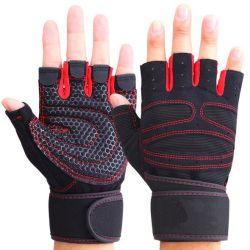 カスタム重量挙げの手袋の体操の適性の手袋の黒いスポーツの手袋