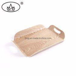 Madeira Coreia dobrados alimento utensílios de madeira que serve a bandeja de chá com pegas