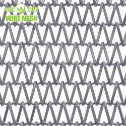 Cortina metálica de malha de arame de aço inoxidável de parede para decoração/protecção/Sunshading/divisor de espaço