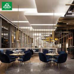 modernes Gaststätte-Metallmöbel-Tisch-Stuhl-gesetztes Esszimmer-Möbel-Set