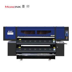 Enjet 8 Heads 1900mm デジタルテキスタイルスブリンションプリンタインクジェット印刷 カレンダー付きマシン