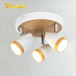 Lanterna d'attaccatura del punto del lampadario a bracci 50W del ferro di GS RoHS BSCI del Ce LED 3 degli indicatori luminosi GU10 del riflettore durevole di legno massimo del soffitto