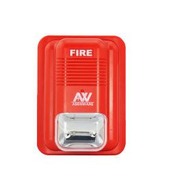 herkömmliche rote Farben-Feuer-Röhrenblitz-Sirene Gleichstrom-24V