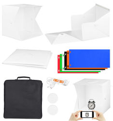 """40cm 16의 """" 16 인치 휴대용 Foldable 소형 사진 스튜디오 가벼운 상자 사진술 스튜디오 LED 천막 상자 연약한 상자 총격사건 천막 점화 상자 6 색깔 배경 Choosed"""