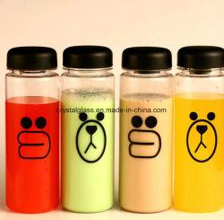 Impression de logo boissons PC/comme des bouteilles en plastique avec bouchon à vis en plastique 500ml 16oz