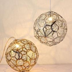 Шарик из нержавеющей стали Post-Modern висящих лампа подвесной светильник в золото, серебро, медный цвет, ресторан, кухня