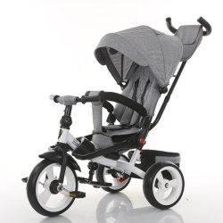 Triciclo all'ingrosso di spinta dei capretti del triciclo del bambino dei bambini dei capretti della fabbrica piccolo con il sedile posteriore