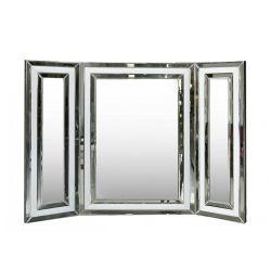De witte Drievoudige Spiegel van de Make-up van de Ijdelheid
