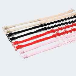 Cinghia di spalla multicolore Slittare-Resistente degli accessori del reggiseno della signora Underwear Bra Strap Buckle della donna delle cinghie registrabili delle cinghie di prezzi bassi del fiore all'ingrosso del merletto