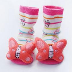 Strickten Tierhaupthefterzufuhr-Kleinkinder des Baby-3D Karikatur-Socken