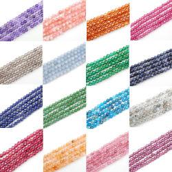 Venda por grosso Round 2-4 mm multifacetado cordões Gemstone Encantador