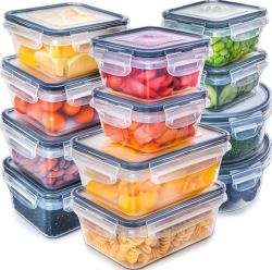 موجة دقيقة آمنة سدود [إك-فريندلي] [لونش بوإكس] وجبة وعاء صندوق بلاستيكيّة طعام [ستورج كنتينر]