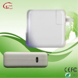 USB C Apple 휴대용 퍼스널 컴퓨터 충전기 AC DC 노트북 힘 접합기 컴퓨터 엇바꾸기 전력 공급 30W 61W 87W