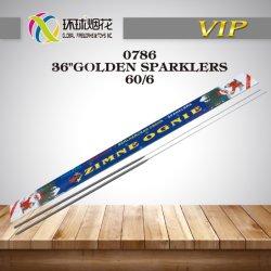 """0786-36"""" Золотой Sparklers игрушки празднование счастья фейерверк Fuegos Artificiales"""
