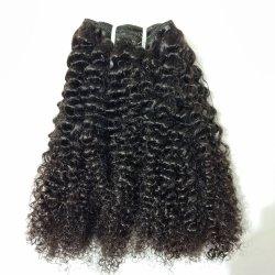 Banheira de estilos de venda profunda indiano Cabelos encaracolados/Kinky Pacotes Encaracolado Deal Virgem não transformadas de cabelo humano ramal