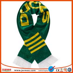 Custom акриловый вязаные зимние теплые шарфы фанатов футбола